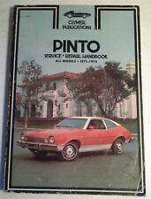 CLYMER SERVICE REPAIR HANDBOOK FOR FORD PINTO 1971-78