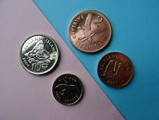 Falkland Islands coins - nice UNC 4 coin collection of 1, 2, 5 + 10 pence NEW