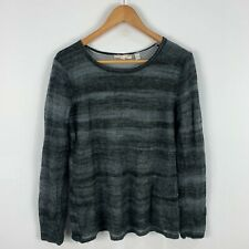 Esprit Top Womens Small Mohair Grey Long Sleeve Boat Neck Gorgeous