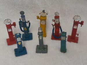 Dinky x8 Petrol Pumps - Original good