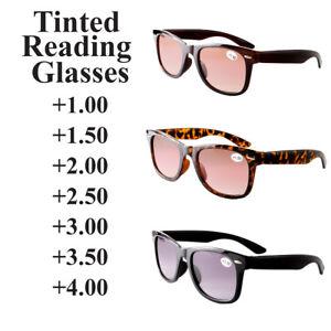 Sun Readers Graduated Tinted Reading Glasses  +1.00 to +4.00 Sunglasses UV400