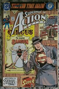 ACTION COMICS #663 Superman Justice Society Time and Time Again #2 DC 1991 VF+