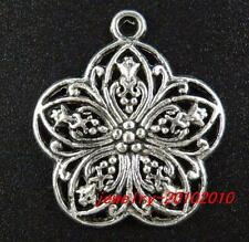 20pcs Tibetan Silver Filigree Charms 30x26x3.5mm 9400