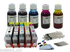W/chip HP 564 XL refillable ink cartridge 5525 5522 6520 3521 3522 +5x100ml 1P