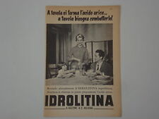 advertising Pubblicità 1956 IDROLITINA