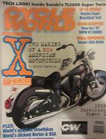 Cycle World Magazine January 1997 Honda Blackbird Test BMW K1200RS Suzuki R600