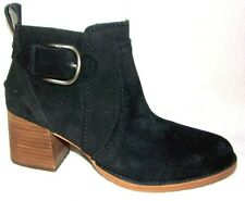 NIB UGG LEAHY BLACK BLACK SUEDE ANKLE BOOTS 7.5 M