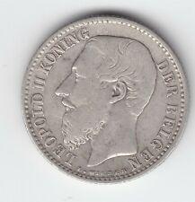 Leopold II  1 frank 1887nl :  in graveursnaam  I in plaats van L!!