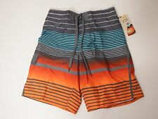 Men Swimwear Trunks Striped E Board Shorts OP Medium 32-34 Orange Blue Grey