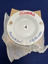 New Old Stock Vtg Hamm's Beer Ashtray Born In the Land of Sky Blue Water 2nds
