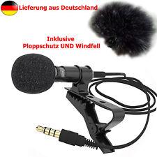 net4web - NLM-S - Lavalier Mikrofon 3,5mm Klinke - mit Ploppschutz u. Windfell