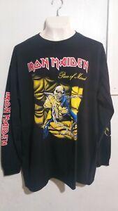 Iron Maiden piece of mind long sleeve T shirt heavy metal judas priest saxon
