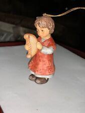 Goebel 2001 Christmas Ornament A Magical Harp Berta Hummel Holiday Music Girl