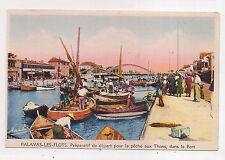 palavas-les-flots , préparatif de départ pour la pêche aux thons , dans le port.