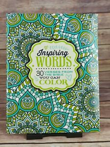 Inspiring Words: 30 Verses from the Bible You Can Colour (Colouring Books)