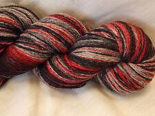 Kauni Effect Yarn Red Grey Black 8/2 315g, Artistic Yarn 100% Wool