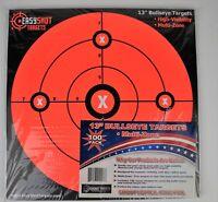 """NEW! EasyShot 13"""" Multi Zone High Visibility 100 pack of Orange Bullseye Targets"""