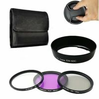 58mm UV CPL FLD Lens Filter Kit LensHood EW-60C For Canon EF-S 18-55mm f/3.5-5.6