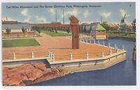 Carl Miles Monument, Christina Park WILIMINGTON DE Vintage Delaware Postcard