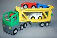 Lego Duplo Car Transporter Lorry & 3 Cars with Figure Bundle