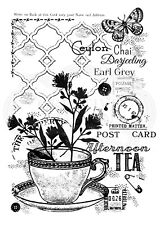 AFTERNOON TEA - Clear Magic Stamp - Woodware