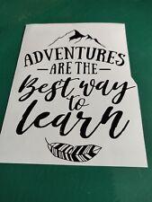 Adventures are the Best Way - Camper/Van/ Bus/ Car Decal Sticker Vinyl Graphic