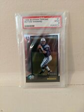 New listing 1998 Bowman Chrome Peyton Manning Indianapolis Colts #1 Rookie Card - PSA 9 MINT