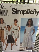Simplicity Mises Slim or Flared Skirt Each in Two Lengths Size NN 10 - 16