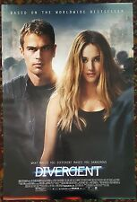 DIVERGENT Movie Poster 27x40 2-Sided Authentic Shailene Woodley Theo James