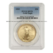 2003 $50 Gold Eagle PCGS MS70 uncirculated 1 ounce 22KT American bullion coin