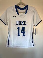 Womens Nike Dri Fit Duke Blue Devils #14 White Lacrosse Jersey - Size Medium NWT