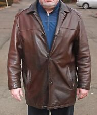 GORGEOUS VINTAGE MEN's ANDREW MARC NY GENUINE LAMB LEATHER ESPRESSO BROWN JACKET