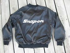 Vintage Satin Snap On Satin Westark Jacket / Black & White L/XL