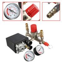 Luftkompressor Druckschalter Steuerventil Regler Manometer Luftdruckregler EU