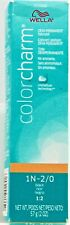 Wella Color Charm Demi Permanent Hair Color 2 oz 1N-2/0 Black 1:2
