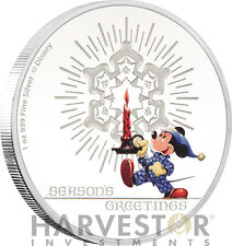 2016 DISNEY SEASON'S GREETINGS CLASSIC (1948) - 1 OZ. SILVER COIN - WITH ALL OGP