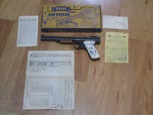 Nice Benjamin Franklin Model 137 Pump Pellet Air Pistol With Box .177 Cal bb Gun