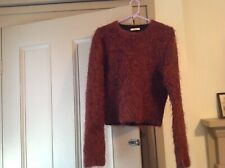 Celine Phoebe Philo Brown Mohair Cashmere Wool Sweater S