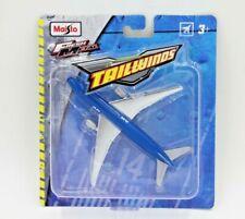 Maisto Fresh Metal Tailwinds. Boeing 777-200 . BLUE & CHROME.  NEW!