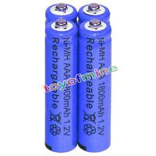 4x AAA Batteries Bulk Nickel Hydride Wiederaufladbare NI-MH 1800mAh 1.2V Blue