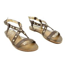 Kangol Brown Strappy Sandals UK 5 EU 38 with Studs Flat Shoes