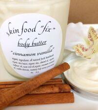 Body Butter Cinnamon Vanilla, Lotion Cream Pure Organic, No preservatives