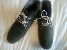 MENS COLE HAAN SIZE 11 SUEDE LEATHER CHUKKA BOOT DEEP GREEN Mens casual shoes