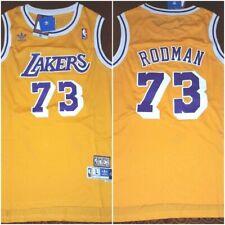 Retro Dennis Rodman #73 Los Angeles Lakers Mens Large Replica Basketball Jersey