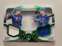 2021 TOPPS TRIBUTE JAVIER BAEZ ANTHONY RIZZO DUAL JERSEY GREEN PARALLEL /99 CUBS