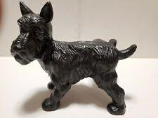 Cast Iron Peeing Black Scottie Terrier Dog Vintage Door Stop / Bookend - Hubley?