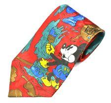 Disney Mens Mickey and Donald Silk Necktie