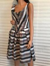 $478 New Vivienne Westwood Anglomania Gray Stripe Organza Dress sz 38