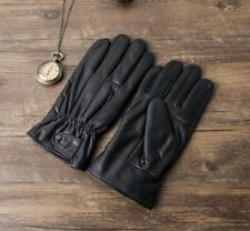Women's Genuine Leather Warm Lined Driving Gloves, Motorcycle Gloves