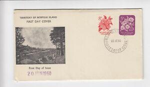 Norfolk Island - 1960 Flowers pair  FDC - 20/6/1960